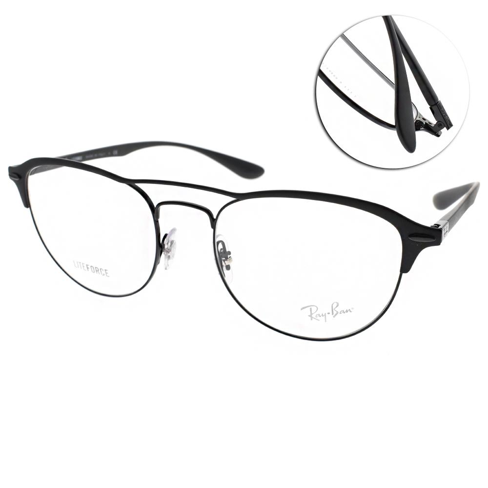 RAY BAN光學眼鏡 復古流行/霧黑-黑#RB3596V 2995