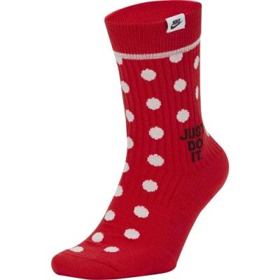 NIKE  襪子 訓練襪 2雙 中筒襪 籃球 運動  紅  SK0132657 U SNKR SOX CREW 2PR - JDI DOTS