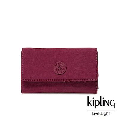 Kipling莓紫素面長/短夾(小)