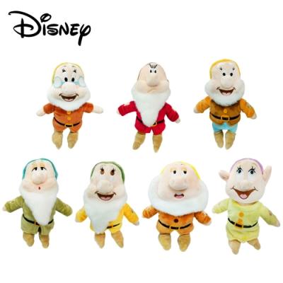 正版授權 七矮人 絨毛玩偶 娃娃 玩偶 白雪公主 迪士尼