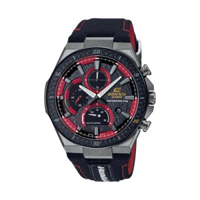 CASIO卡西歐 EDIFICE 太陽能電力 Honda Racing賽車 20周年聯名錶款 EFS-560HR-1A_45.4mm