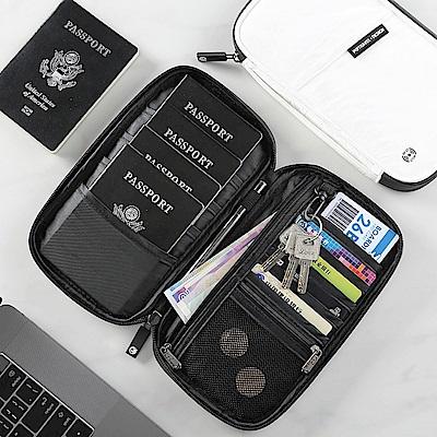 P.travel RFID防盜 防掃描卡片側錄 杜邦面料 護照證件夾 旅遊收納包
