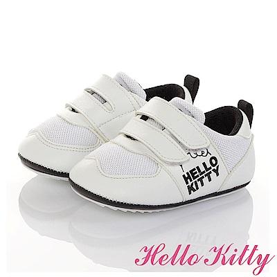 HelloKitty 透氣輕量減壓寶寶學步童鞋-白