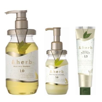[時時樂限定] 日本&herb植萃豐盈洗髮乳1.0+護髮霜3.0(贈髮膜1.5)