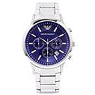 ARMANI Sportivo 低調奢華風三眼計時手錶(AR2448) -藍面/43mm