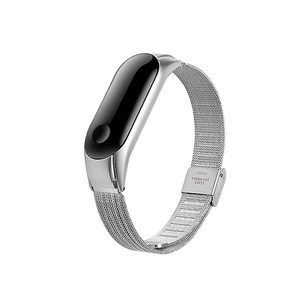 (贈保護貼)【SHOWHAN】小米手環4米蘭金屬錶帶/腕帶/四色