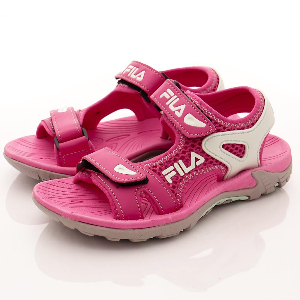 FILA頂級童鞋 透氣運動涼鞋款 FO13S-233桃藍(中大童段)