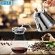 NEW PLEAL 日本進口不鏽鋼手沖咖啡壺(木柄)附雙層304不鏽鋼濾網咖啡過濾壺超值組 product thumbnail 1
