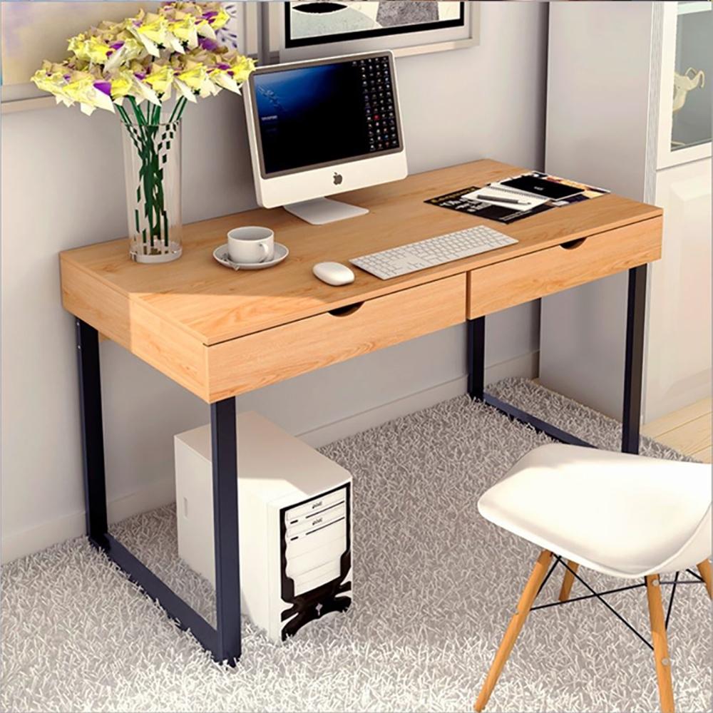 【Incare】雙抽屜書桌收納辦公桌(100x48x74cm)-3色可選