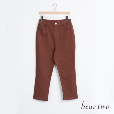 bear two- 素色直筒褲 - 咖啡