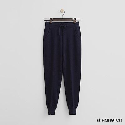 Hang Ten - 女裝 - 後口袋印字束口褲-藍