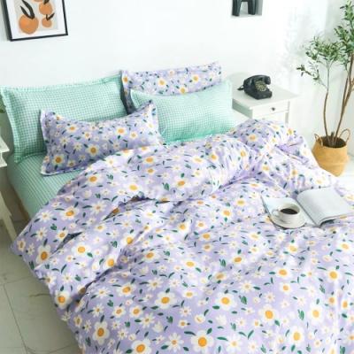 3-HO 雪紡棉 單人床包/枕套 二件組 紫羅蘭