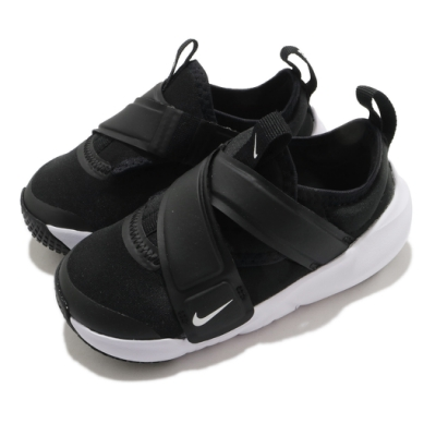 Nike 慢跑鞋 Flex Advance TD 運動 童鞋 輕量 透氣 舒適 魔鬼氈 小童 穿搭 黑 白 CZ0188002