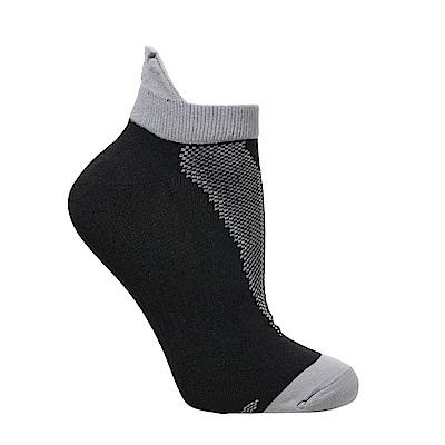 【ZEPRO】男子透氣慢跑踝襪-經典黑