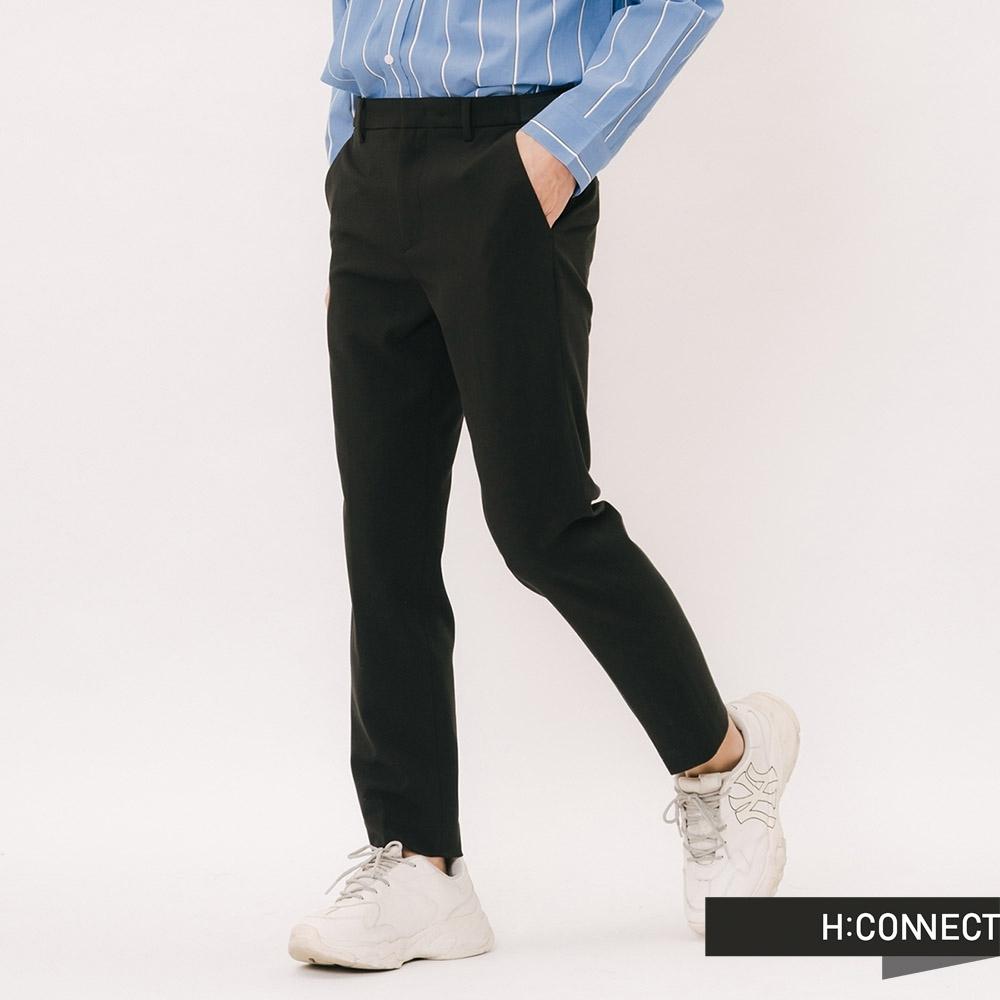 H:CONNECT 韓國品牌 男裝 - 微彈修身西裝褲 - 黑