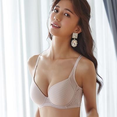 蕾黛絲-親膚好感挺素面 B-F罩杯內衣 柔粉