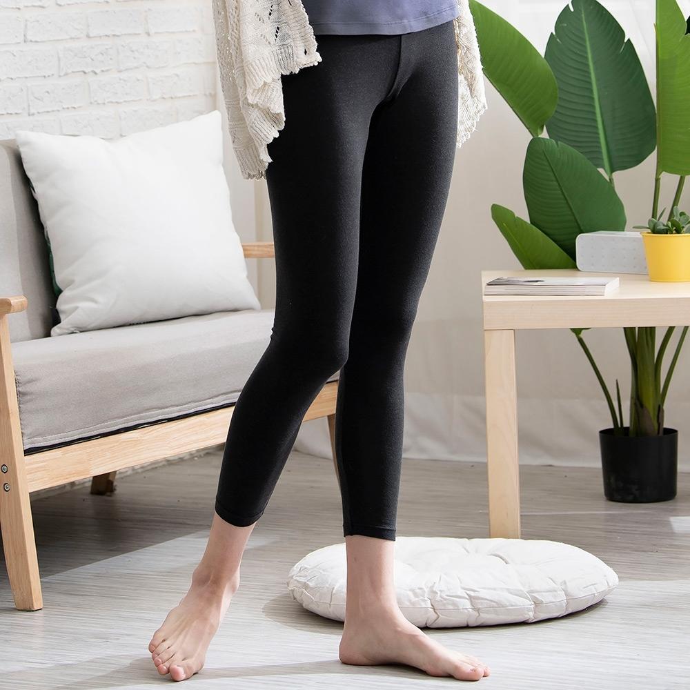 華歌爾-優膚美 M-LL長褲(黑) 保暖舒適-UMORFIL超細纖維