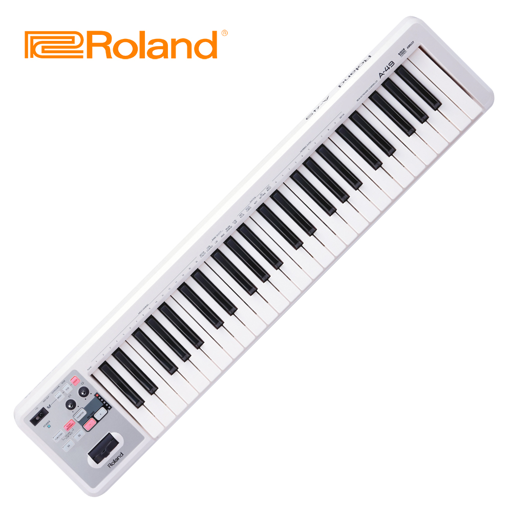 ROLAND A49 MIDI 49鍵主控鍵盤 白色款