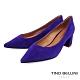 Tino Bellini奢華絨感羊麂皮中粗跟鞋_紫 product thumbnail 1