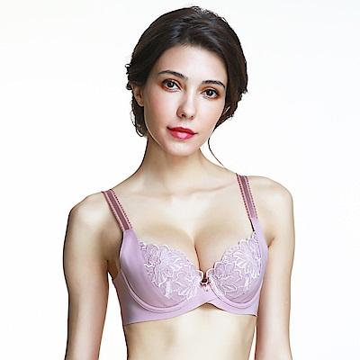 黛安芬-FLORALE璀璨薔薇透氧系列 B-E罩杯內衣 優雅紫