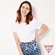 GUESS-女裝-白色浮雕倒三角LOGO短T,T恤-白 原價1290 product thumbnail 1
