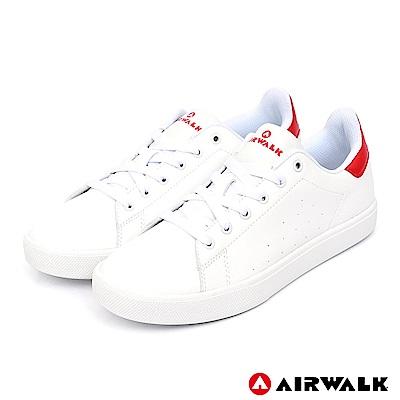AIRWALK - 經典潮流休閒鞋-女款-白紅