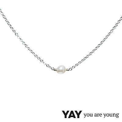 YAY You Are Young 法國品牌 Stella 珍珠項鍊 單層款 925純銀