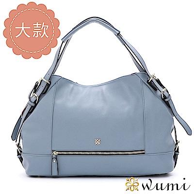 WuMi 無米 艾莉卡率性拉鍊包L 微風藍