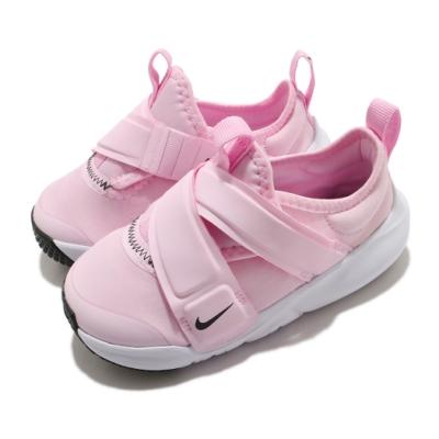 Nike 慢跑鞋 Flex Advance TD 運動 童鞋 輕量 透氣 舒適 魔鬼氈 小童 穿搭 粉 白 CZ0188600