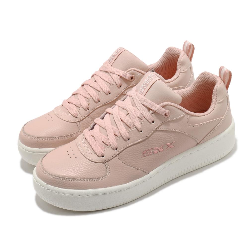Skechers 休閒鞋 Sport Court 92 板鞋 女鞋 記憶型泡棉鞋墊 避震 緩衝 止滑 耐磨 粉 白 149440ROS