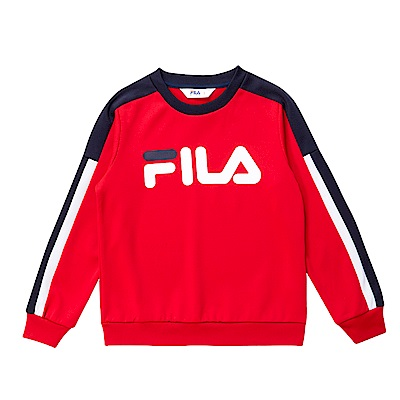 FILA KIDS 童針織上衣-紅 1TES-8404-RD