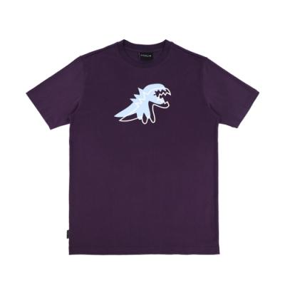 agnes b. - Sport b. 恐龍印花圓領短袖上衣(男)(紫)