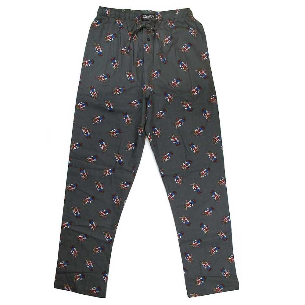 Polo Ralph Lauren 深灰色小熊Logo純棉休閒長褲