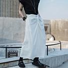 設計所在Style-設計師款韓版打結後開叉綁帶銅氨絲長裙