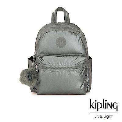 Kipling 金屬墨灰色後背包-SORDA