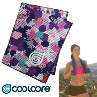 COOLCORE Chill Sport 涼感運動巾【印花系列 】紫色花卉 /新色上市
