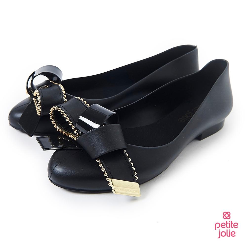 Petite Jolie--優雅結飾果凍娃娃鞋-黑色