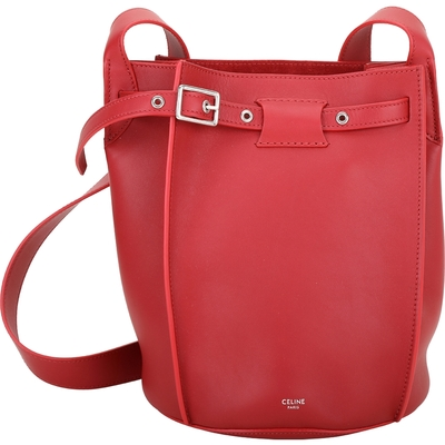 CELINE Big Bag Bucket  小牛皮肩背水桶包(紅色)
