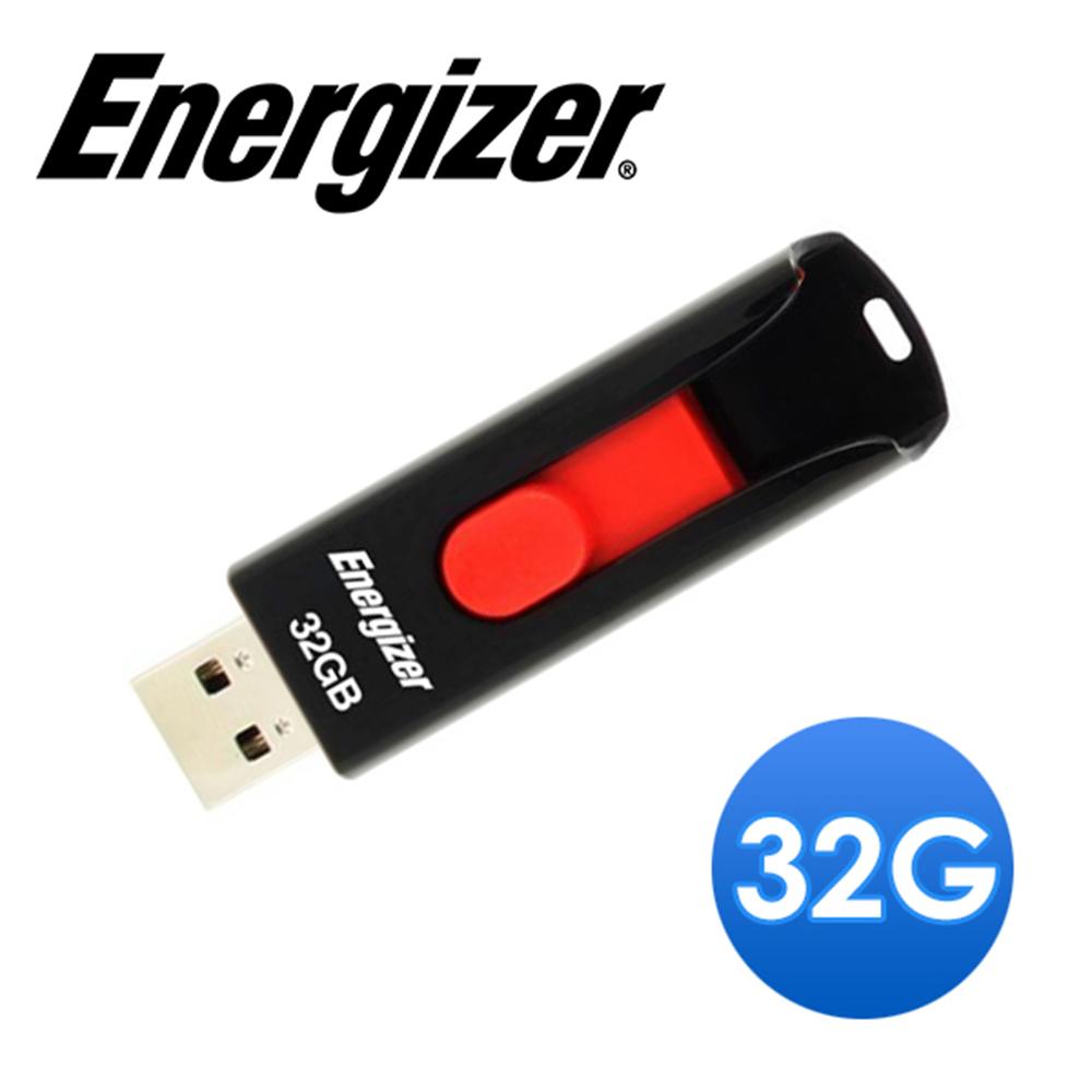 Energizer勁量 32GB 經典滑蓋USB2.0隨身碟 (超值5入組)