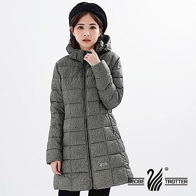 【遊遍天下】女款長版顯瘦防風防潑禦寒羽絨外套GJ22020麻灰