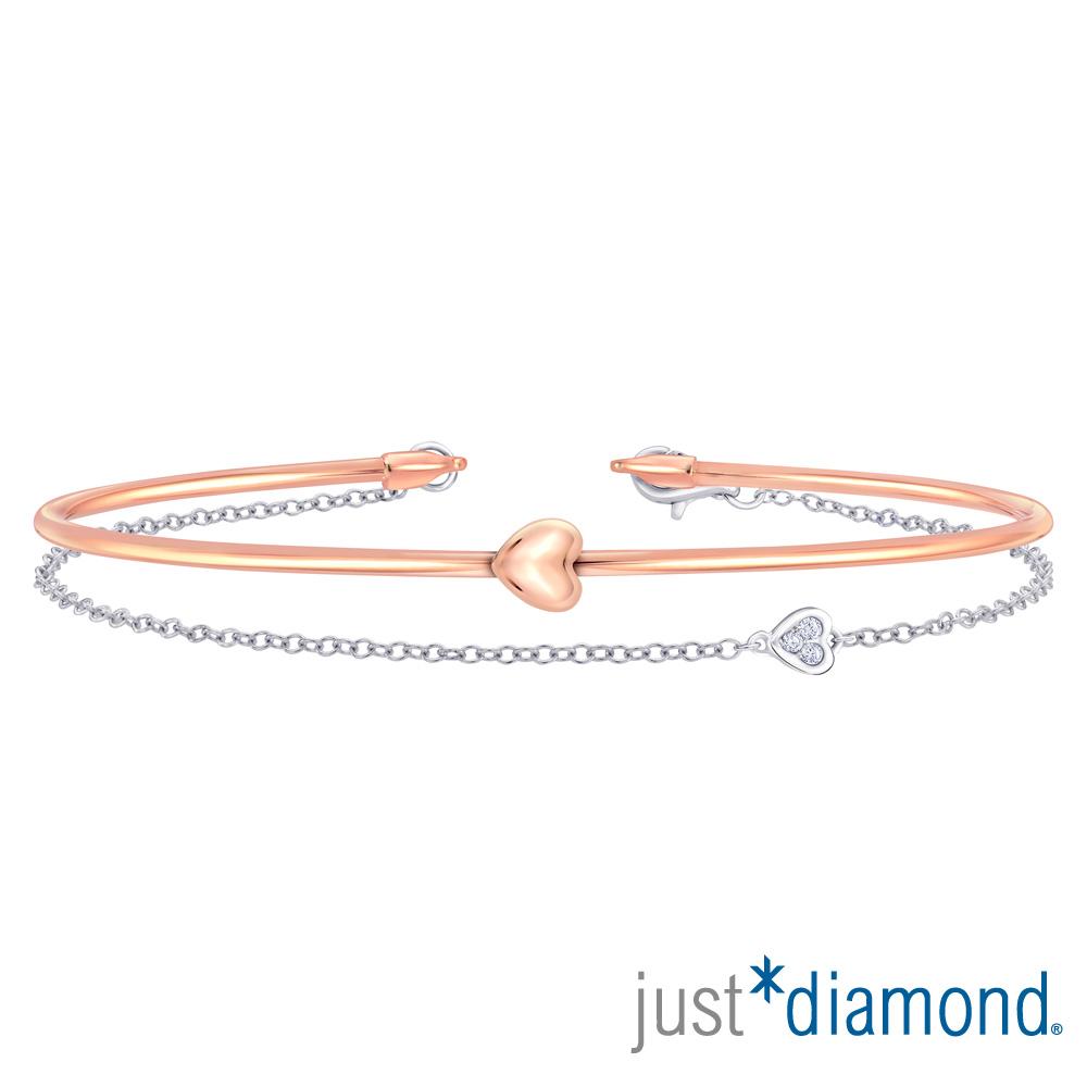 Just Diamond 18K雙色金鑽石手環-Perfect Love