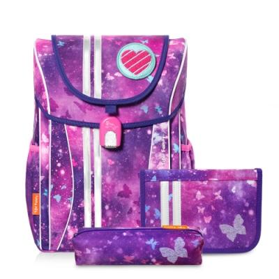 TigerFamily經典學院風超輕量護脊書包-3色任選(送文具袋+鉛筆盒)