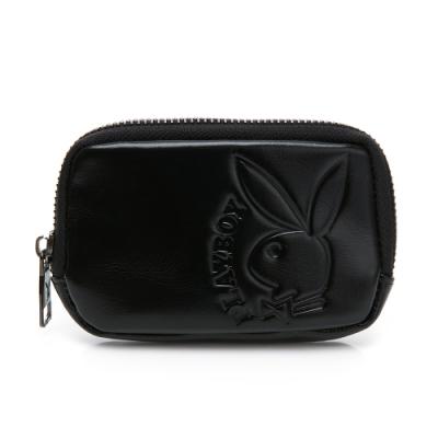 PLAYBOY- 零錢包  rabbithead系列-黑色
