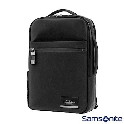 Samsonite新秀麗 Vestor商務保護隔層筆電後背包(黑)