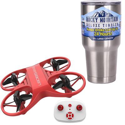 《旭日狂風》室內專用19cm紅外線遙控4D翻滾無人機+冰霸杯組