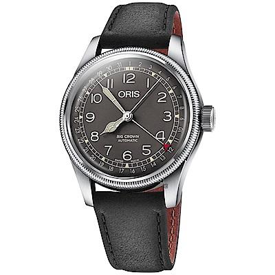 ORIS 豪利時 Big Crown指針式日期機械錶-灰x黑灰x40mm