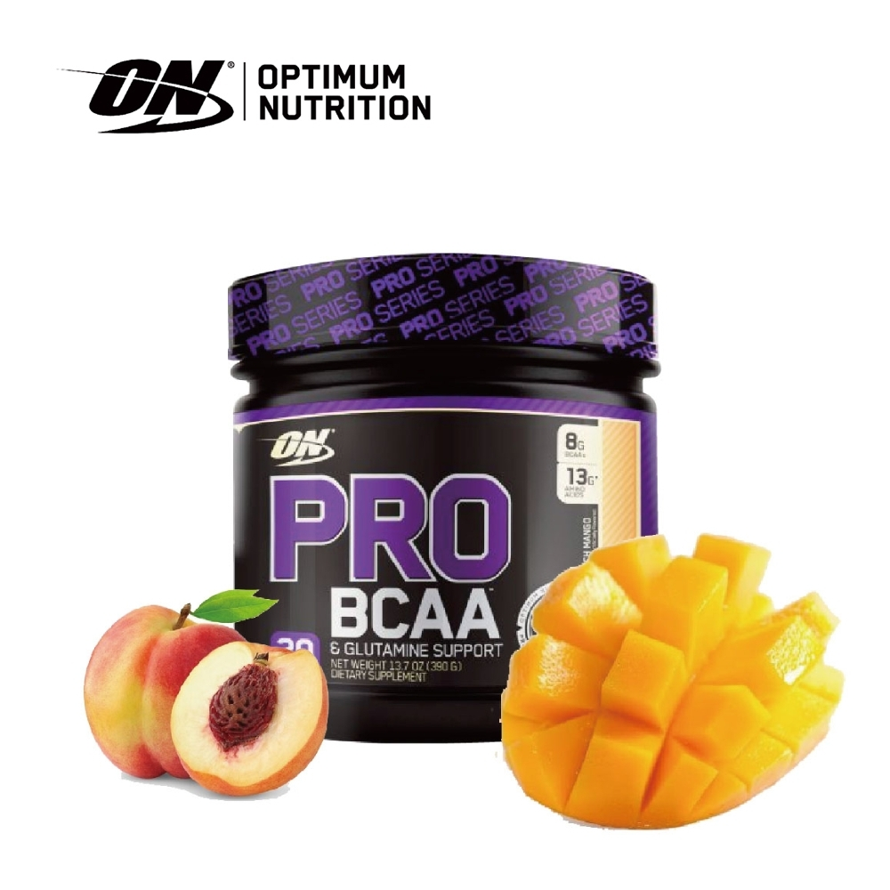[美國 ON] ProBCAA 支鏈胺基酸-水蜜桃芒果 (390g/罐)(20份)