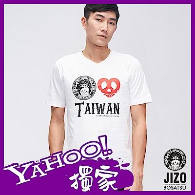 地藏小王 BLUE WAY 奧萊 TAIWAN 短TEE- 白