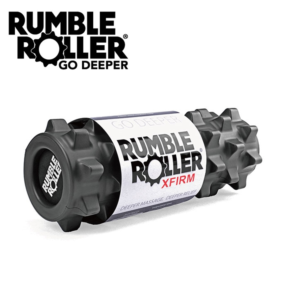 【Rumble Roller】深層按摩滾輪 狼牙棒 短版31cm 強化版硬度(瑜珈柱 按摩滾筒 筋膜放鬆 瑜珈滾筒)