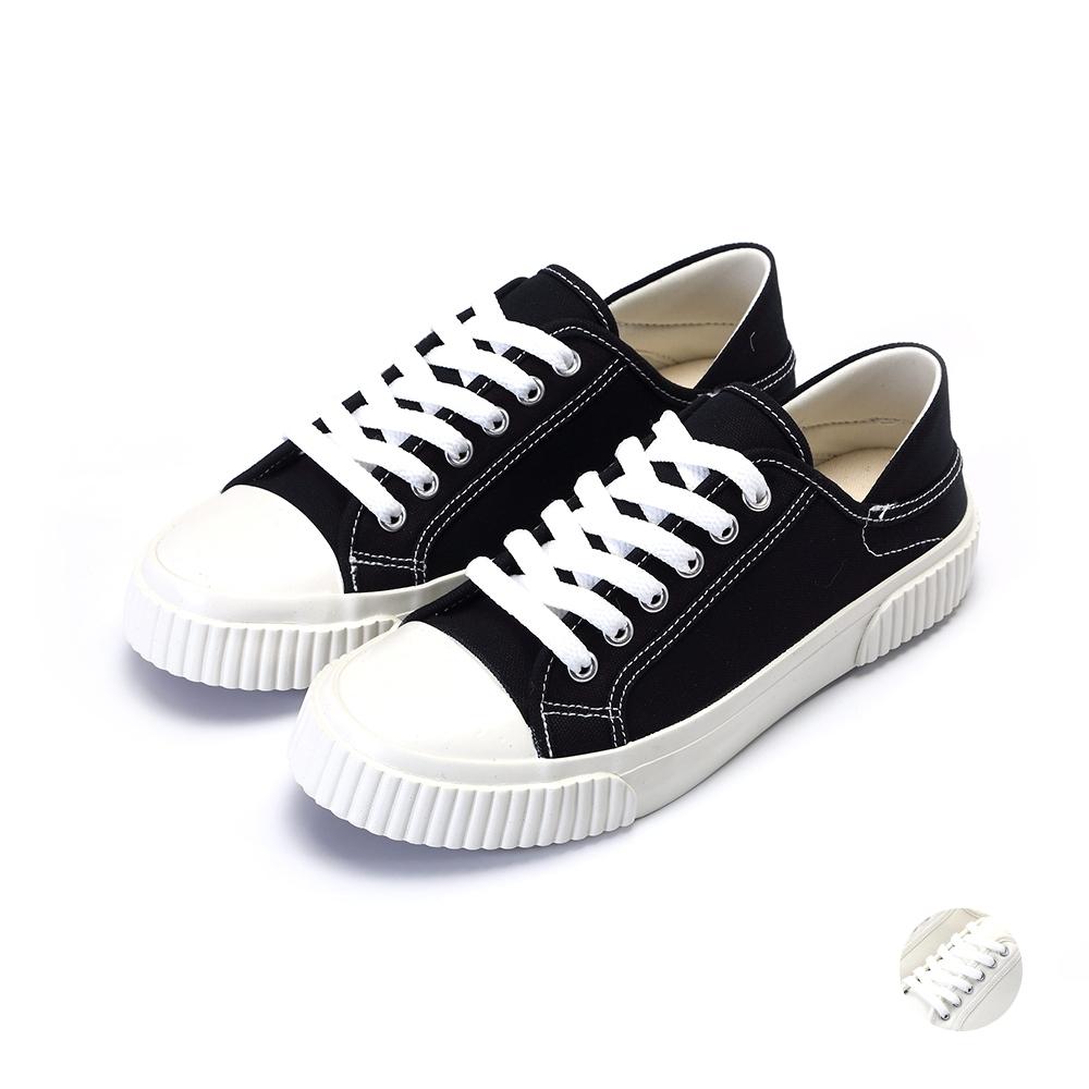 ARRIBA艾樂跑女鞋-懶人帆布鞋-黑/白(AB9018)